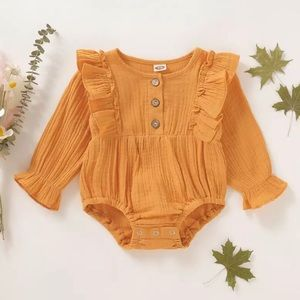 Baby girl long sleeved romper 12- 18 mo.